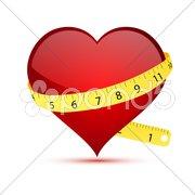 Heart measurement Stock Illustration
