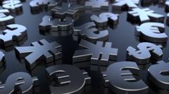 4K Money Sign Symbols Stock Footage