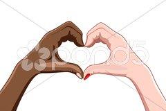 Heart shape by fingers Stock Illustration