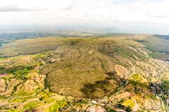Interesting geological formations near Hawassa Stock Photos