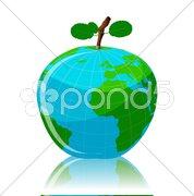 Global fruit Stock Illustration