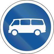 Road sign used in the African country of Botswana - Mini-buses only Stock Illustration