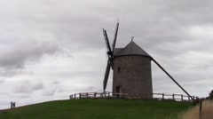 Scene of a windmill Stock Footage