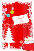 abstract merry christmas card - stock photo