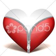 Unzipped heart Stock Illustration