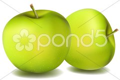 Natural apples Stock Illustration