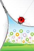 Unzip natural background Stock Illustration