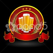 Beer in glass with grain Stock Illustration