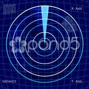 digital radar - stock photo