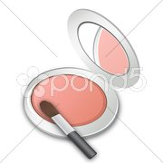 Makeup box Stock Illustration