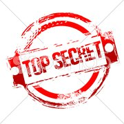 top secret stamp - stock photo