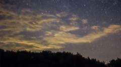 Meteor shower time lapse Stock Footage