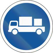 Road sign used in the African country of Botswana - Delivery vehicles only Stock Illustration