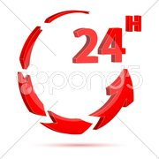 24 hour icon Stock Illustration