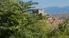 Celano castle in abruzzo italy Stock Footage