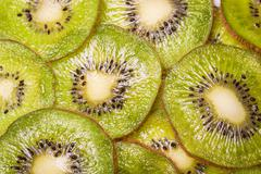 Fresh slice kiwi ,macro background ,healthy food Stock Photos