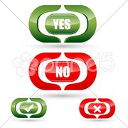 yes and no buttons - stock photo
