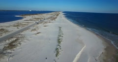 A beautiful aerial shot over white sand beaches near Pensacola, Florida. Stock Footage