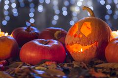 Don't be scared, it's only a pumpkin Stock Photos