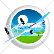 plane in air - stock photo