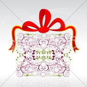 floral gift card - stock photo