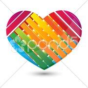 Stripped heart Stock Illustration