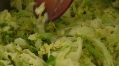 Fresh super food kale in the pot Stock Footage