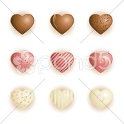 Heart shape chocolate Stock Illustration