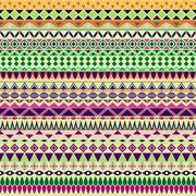 Colorful tribal vintage ethnic seamless pattern Stock Illustration