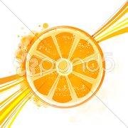 orange with wave - stock photo
