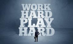 Hard working motivation for business person Kuvituskuvat