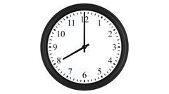 Realistic 3D clock set at 8 o'clock Stock Illustration