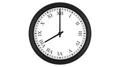 Realistic 3D clock with Roman numerals set at 8 o'clock Stock Illustration