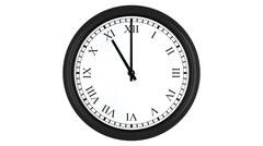 Realistic 3D clock with Roman numerals set at 11 o'clock Stock Illustration