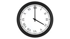 Realistic 3D clock set with Roman numerals at 4 o'clock Stock Illustration