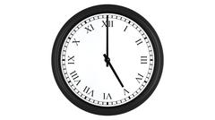 Realistic 3D clock with Roman numerals set at 5 o'clock Stock Illustration