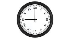 Realistic 3D clock with Roman numerals set at 9 o'clock Stock Illustration