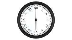 Realistic 3D clock with Roman numerals set at 6 o'clock Stock Illustration