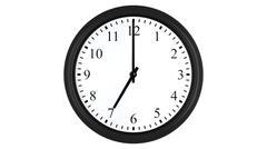 Realistic 3D clock set at 7 o'clock Stock Illustration