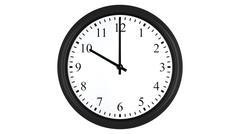 Realistic 3D clock set at 10 o'clock Stock Illustration
