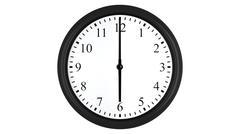 Realistic 3D clock set at 6 o'clock Stock Illustration