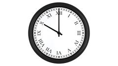Realistic 3D clock with Roman numerals set at 10 o'clock Stock Illustration