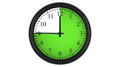 Wall clock with a green 45 minutes time interval Stock Illustration