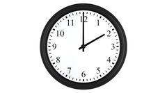 Realistic 3D clock set at 2 o'clock Stock Illustration