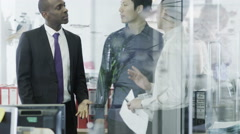 Strong and confident multi ethnic businessmen Stock Footage