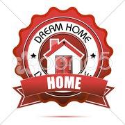 dream home tag - stock photo