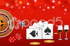 Casino card Stock Illustration