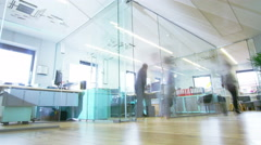 Time lapse shot of a young creative business team Stock Footage