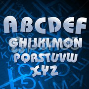 Alphabetical texts Stock Illustration