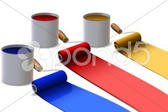 Paint roller Stock Illustration